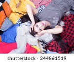 nothing to wear concept  young... | Shutterstock . vector #244861519