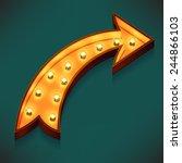 vector realistic 3d volumetric... | Shutterstock .eps vector #244866103
