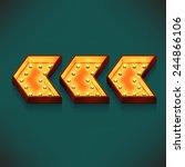 vector realistic 3d volumetric... | Shutterstock .eps vector #244866106