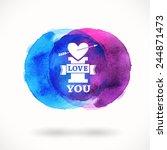 hand drawn watercolor... | Shutterstock .eps vector #244871473