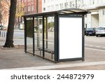 empty bus stop travel station... | Shutterstock . vector #244872979