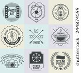 assorted retro design insignias ... | Shutterstock .eps vector #244874599