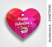 geometric pattern heart for... | Shutterstock .eps vector #244875940