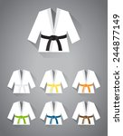 collection of judo  karate or... | Shutterstock .eps vector #244877149