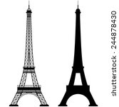 Eiffel Tower Isolated Vector...