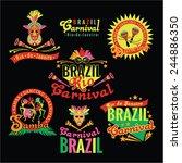 Brazilian Carnival. Big Set Of...