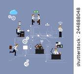 business infographics template. ... | Shutterstock .eps vector #244888048