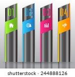 modern text box template for...   Shutterstock .eps vector #244888126