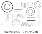 set of postal stamps and... | Shutterstock .eps vector #244891948