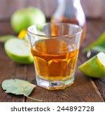 fresh apple juice in the glass... | Shutterstock . vector #244892728
