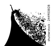 Silhouette Of Opera Singer Wit...