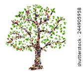 family tree. people in the form ... | Shutterstock . vector #244905958