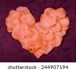 heart from rose petals textile... | Shutterstock . vector #244907194