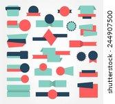 set of banner and badges ... | Shutterstock .eps vector #244907500