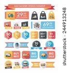 transportation sale banner flat ...