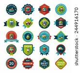 transportation badge flat...