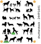 Stock vector dogs silhouette part of dog s breed 24491641
