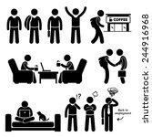 freelancer self employed... | Shutterstock .eps vector #244916968
