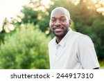 portrait of a late 20s black... | Shutterstock . vector #244917310