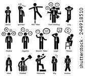 businessman attitude...   Shutterstock .eps vector #244918510