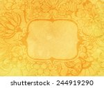 orange hand drawn spring flower ... | Shutterstock . vector #244919290