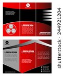red brochure tri fold template  | Shutterstock .eps vector #244921204