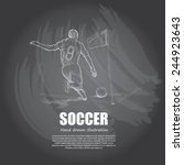 soccer background design. hand... | Shutterstock .eps vector #244923643