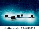 computer network | Shutterstock . vector #244934314