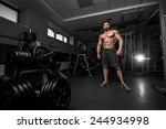 bodybuilder in the gym | Shutterstock . vector #244934998