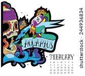 page astrological calendar.... | Shutterstock .eps vector #244936834