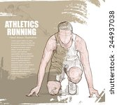 athletics background design.... | Shutterstock .eps vector #244937038