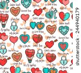 seamless pattern with hand... | Shutterstock .eps vector #244940179