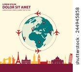 travel around the world | Shutterstock .eps vector #244945858