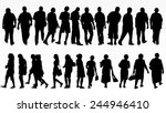 people silhouettes collection | Shutterstock .eps vector #244946410