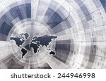 supply channel coordination or... | Shutterstock . vector #244946998