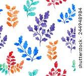 vector seamless pattern of... | Shutterstock .eps vector #244948984