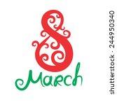 8 march | Shutterstock .eps vector #244950340