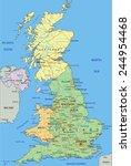 united kingdom   highly... | Shutterstock .eps vector #244954468