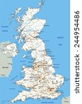 high detailed united kingdom... | Shutterstock .eps vector #244954486