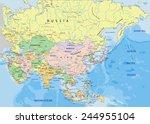 asia   highly detailed editable ... | Shutterstock .eps vector #244955104