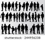 people silhouettes collection | Shutterstock .eps vector #244956238