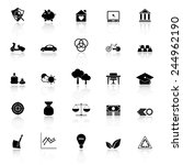 sufficient economy icons with...   Shutterstock .eps vector #244962190