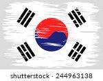 the flag of south korea.... | Shutterstock .eps vector #244963138