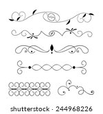 set of page decoration line... | Shutterstock .eps vector #244968226