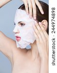 beauty portrait with a mask... | Shutterstock . vector #244974898