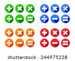 mathematical icon set  ... | Shutterstock .eps vector #244975228