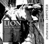 lion vintage illustration.... | Shutterstock .eps vector #244975318