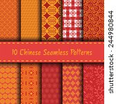 chinese seamless patterns ... | Shutterstock .eps vector #244980844