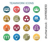 teamwork long shadow icons ... | Shutterstock .eps vector #244980850