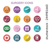 surgery long shadow icons  flat ... | Shutterstock .eps vector #244981660